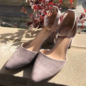 Call It Spring -Textile Microfibre Low mid heels